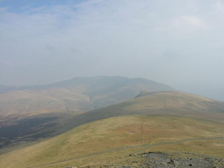 Blencathra and Lonscale Fell  from Lesser Man