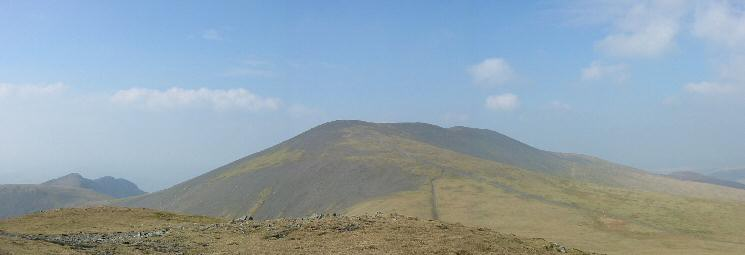 Skiddaw from Little Man with the Long Side ridge on the far left