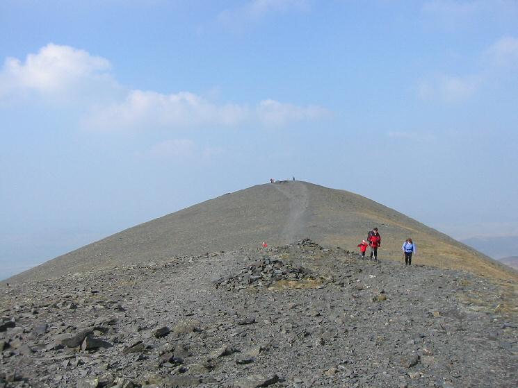 Skiddaw summit ridge