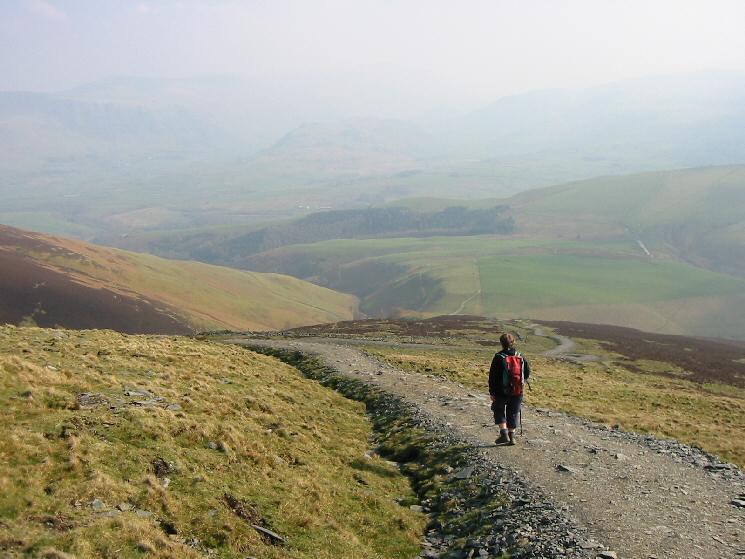 Descending Richard's Path off Jenkin Hill to Latrigg