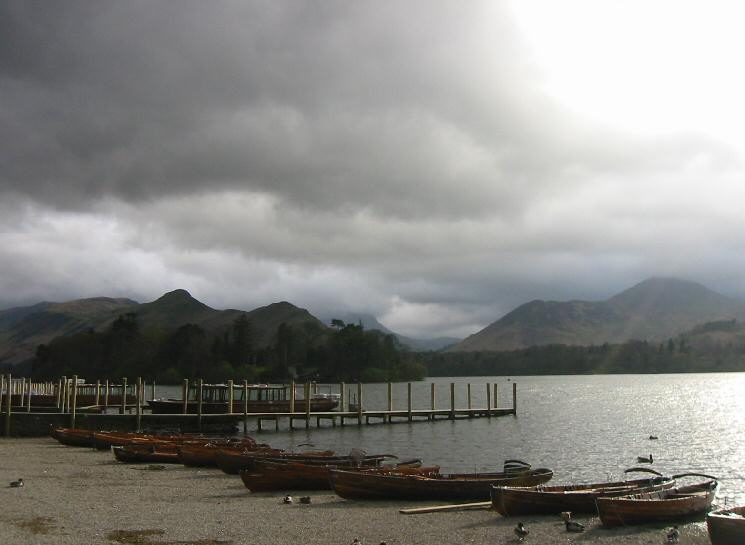 Catbells and Causey Pike from the landing stages