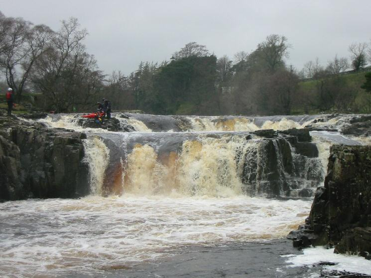 Canoeists at Low Force