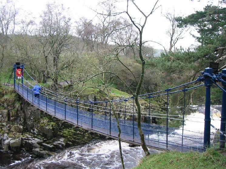 Wynch Bridge across the River Tees just below Low Force