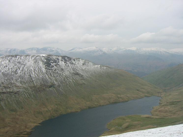 Gray Crag, Hayeswater and the Helvellyn range