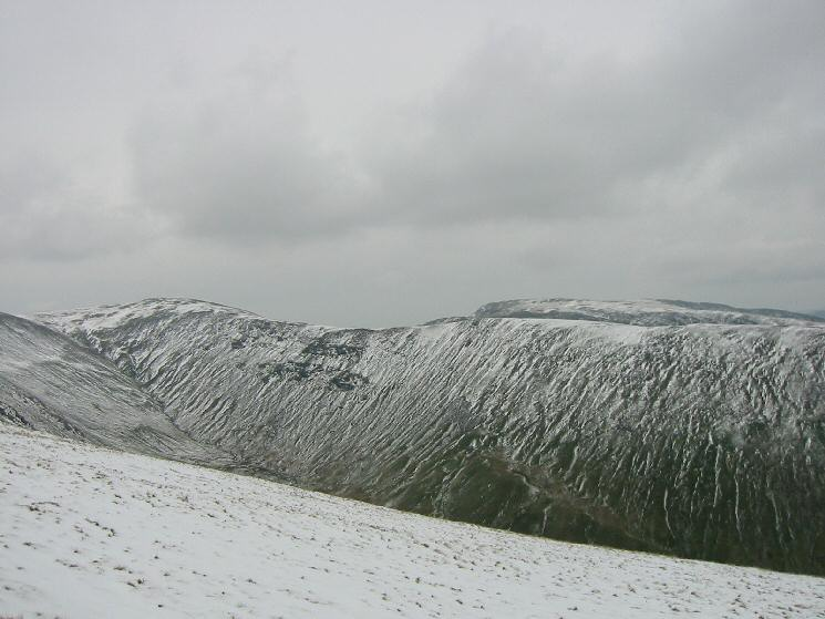 Thornthwaite Crag on the far left and Caudale Moor behind the Gray Crag ridge