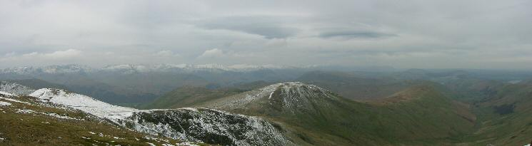 Northwesterly panorama from Rampsgill Head