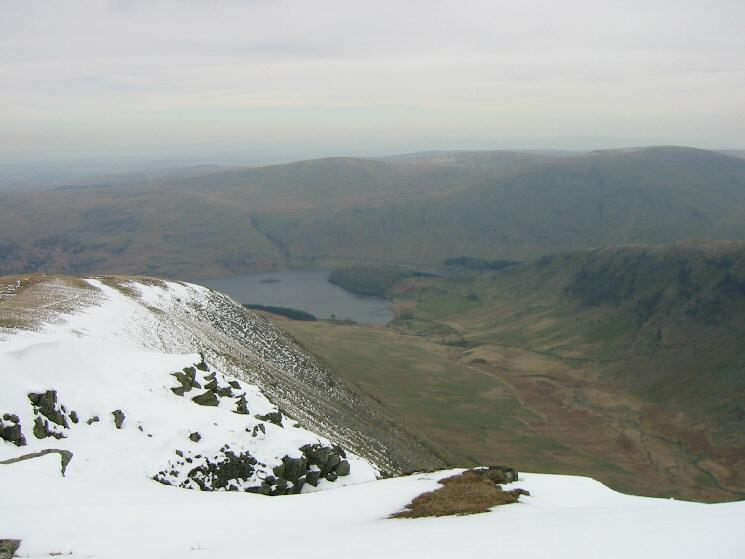 Looking down into Riggindale from Kidsty Pike