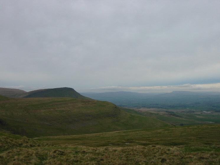 Roman Fell Scar behind Delfekirk Scar with Wild Boar Fell in the distance on the right