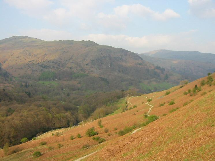 Nab Scar from above Loughrigg Terrace