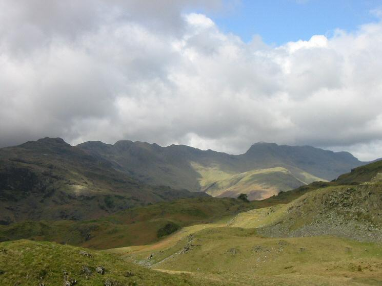 Pike o' Blisco, Crinkle Crags and Bowfell