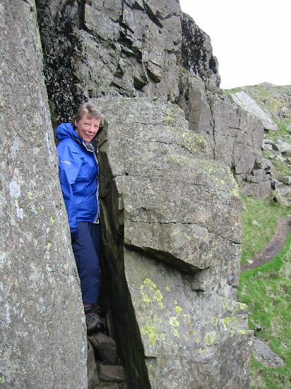 Anne going through The Squeeze