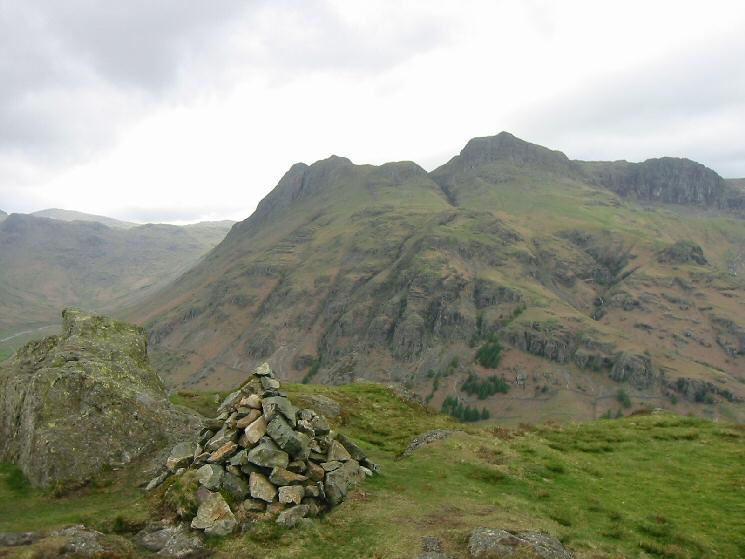 The Langdale Pikes from Side Pike's summit