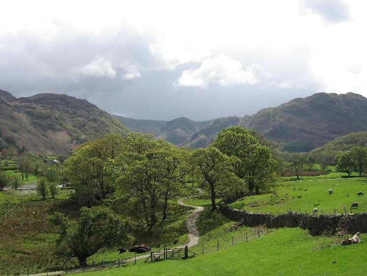 Looking towards Eagle Crag from the start of the ascent
