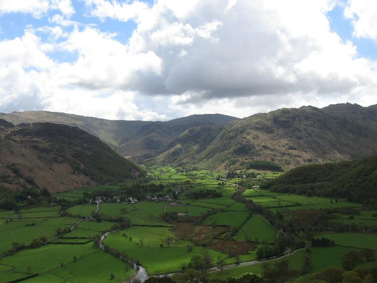 The view towards Stonethwaite and Eagle Crag