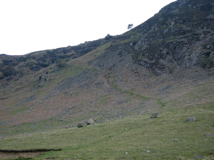 The first part of the  path up the front of Carrock Fell