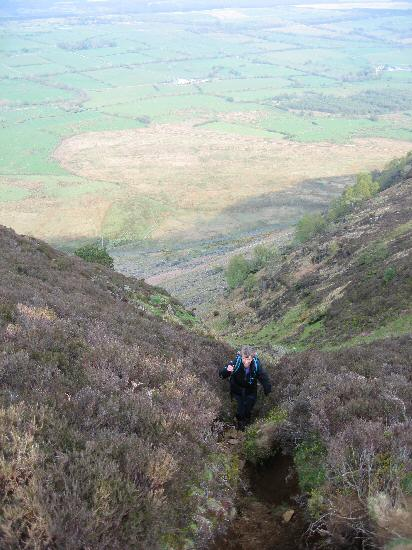 The end of the steep section