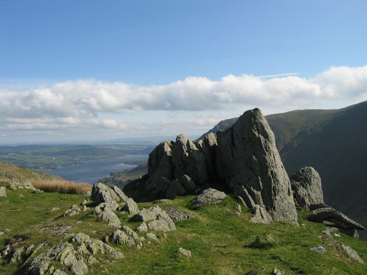 Pikeawassa, Steel Knotts' summit with Ullswater in the distance