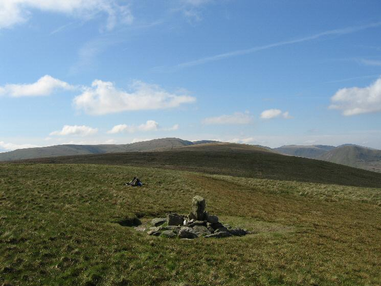 The view south (High Street Roman Road) from Wether Hill's summit cairn
