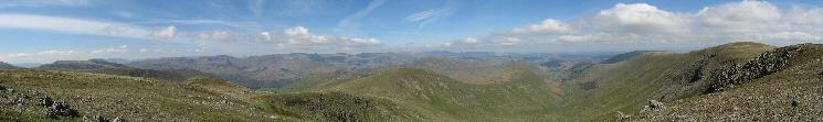 Westerly panorama from Rampsgill Head