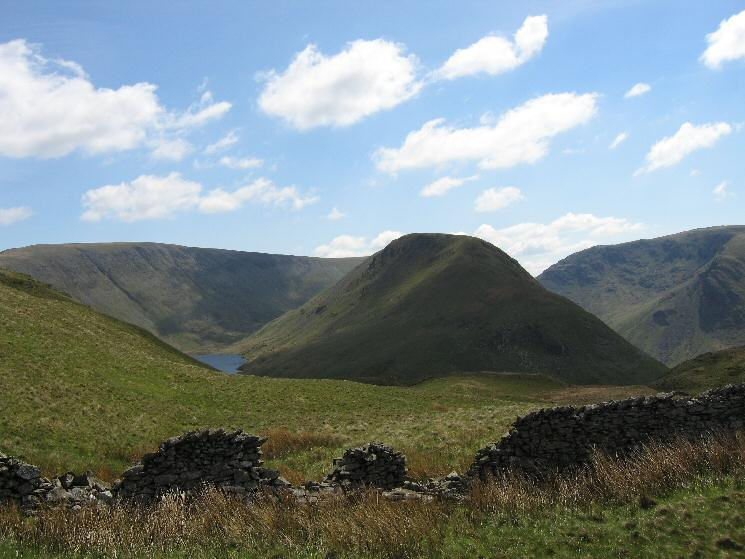 High Street, a bit of Hayeswater and Gray Crag from our route across to Brock Crags