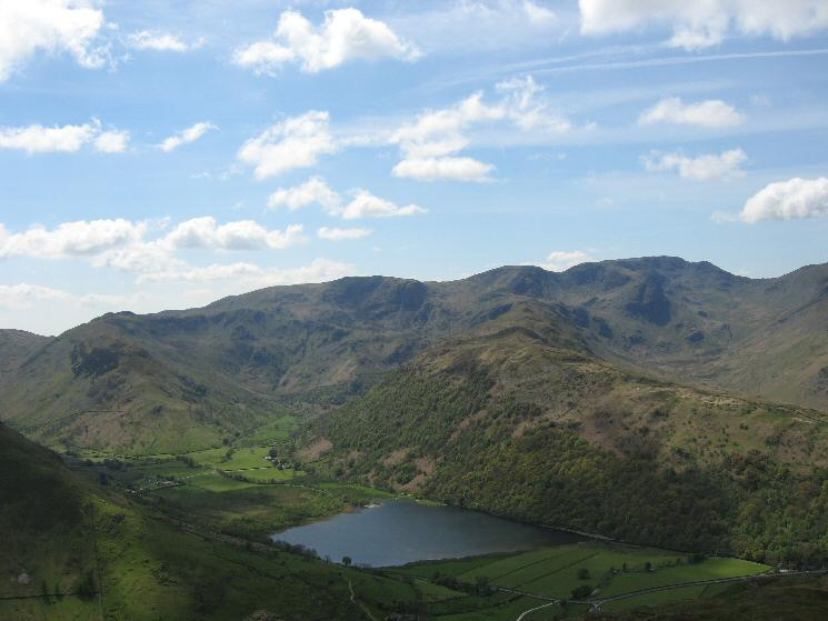 Brothers Water with High Hartsop Dodd, Little Hart Crag, Dove Crag, the Hartsop Above How ridge leading to Hart Crag and Fairfield from Brock Crags