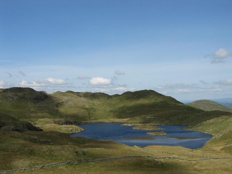 Angle Tarn from the descent off Brock Crags