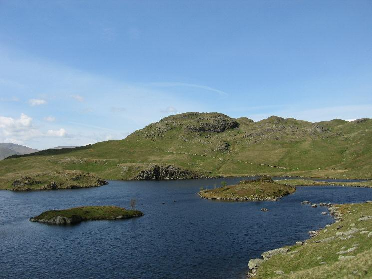 Angle Tarn and the southern (and lower) top of Angletarn  Pikes