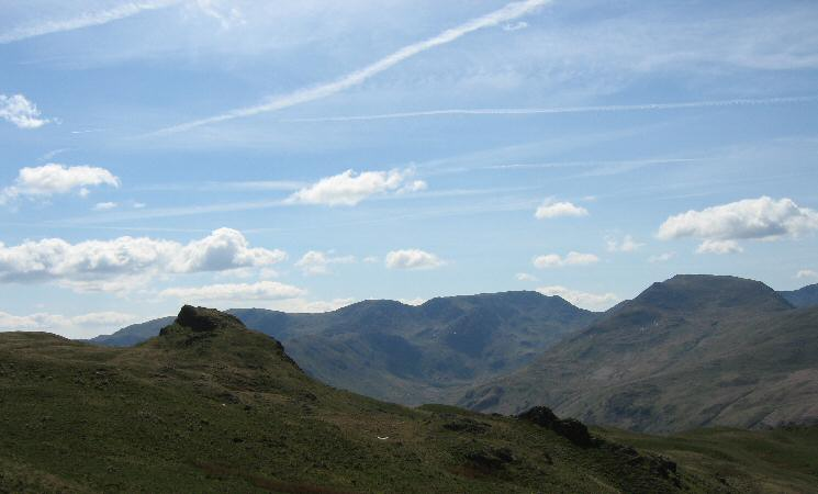 Angletarn Pikes' north top, Fairfield and Saint Sunday Crag