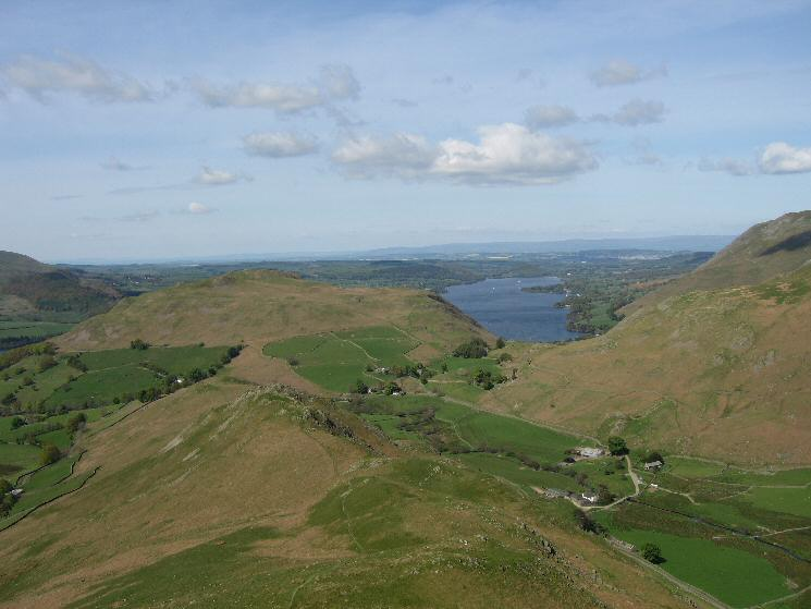 Hallin Fell and Ullswater from the descent from Beda Head