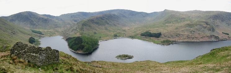 Haweswater panorama from the Old Corpse Road