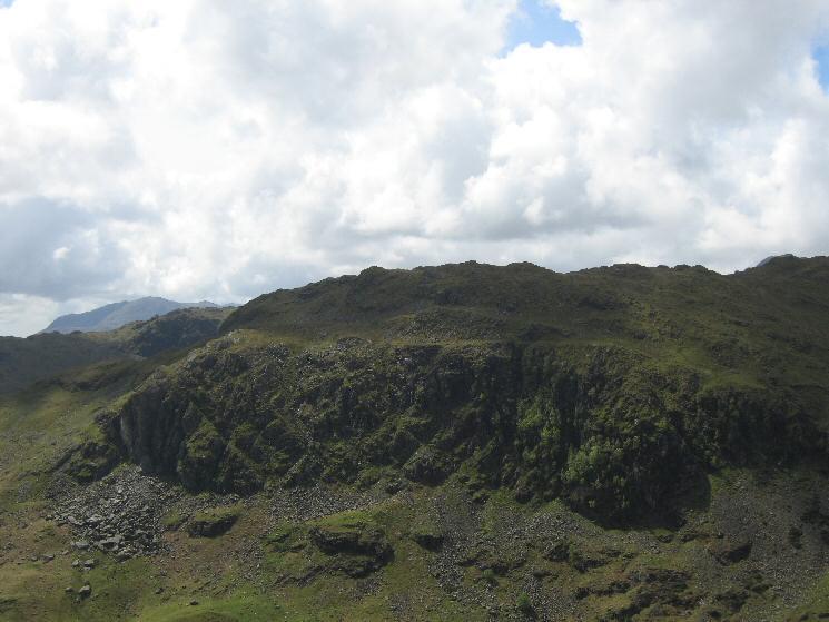 Looking across Far Easedale to Deer Bields Crag on Tarn Crag