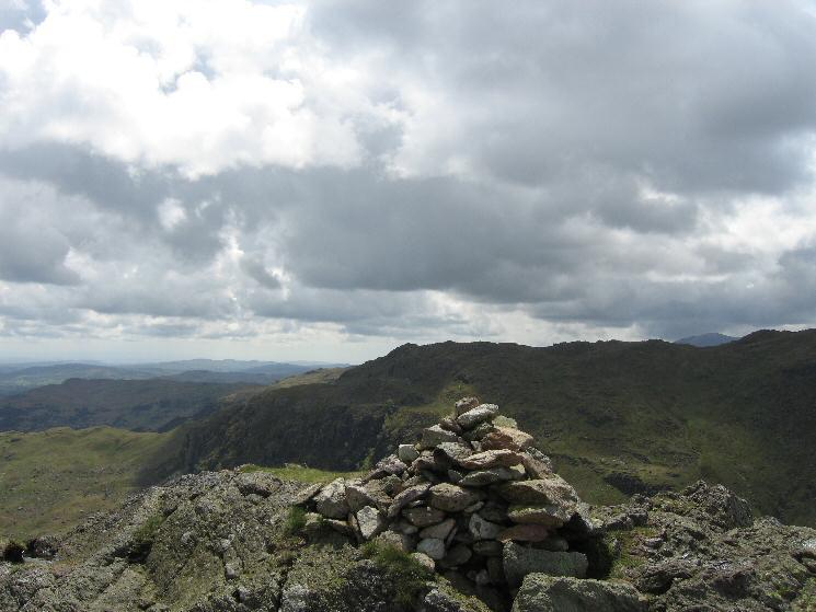 Calf Crag's summit cairn