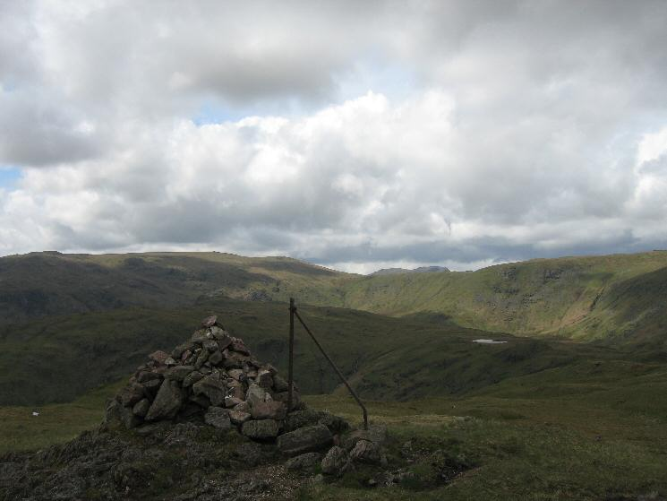 Looking towards High Raise and Greenup Edge from Steel Fell's summit cairn