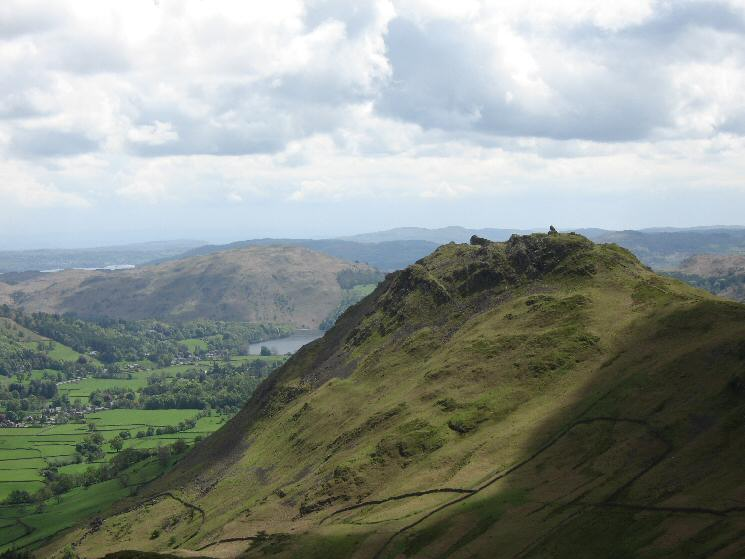 Helm Crag from Steel Fell's south east ridge