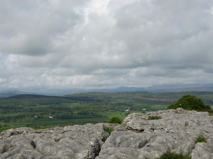 The south western Lakeland Fells from the limestone pavement on Hampsfell