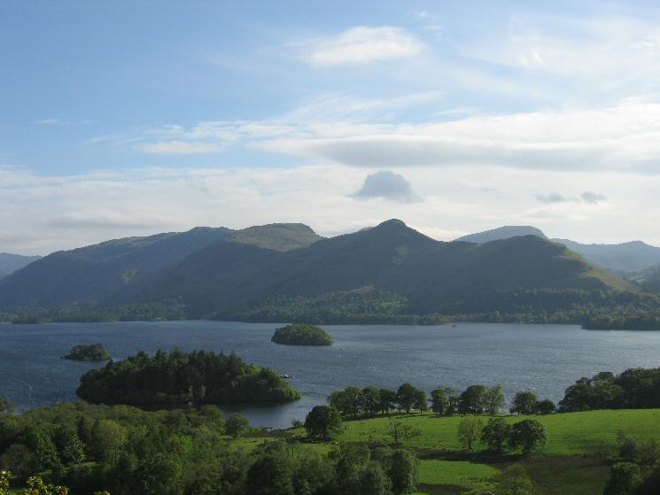 Looking across Derwent Water to Catbells from Castle Head