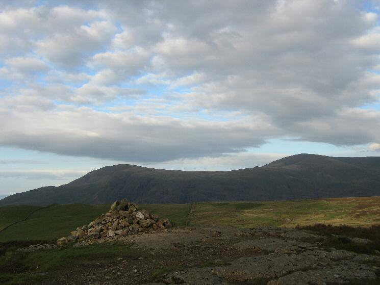 Clough Head and Great Dodd from Walla Crag's summit cairn
