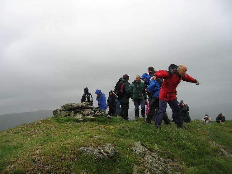A windy Reston Scar summit