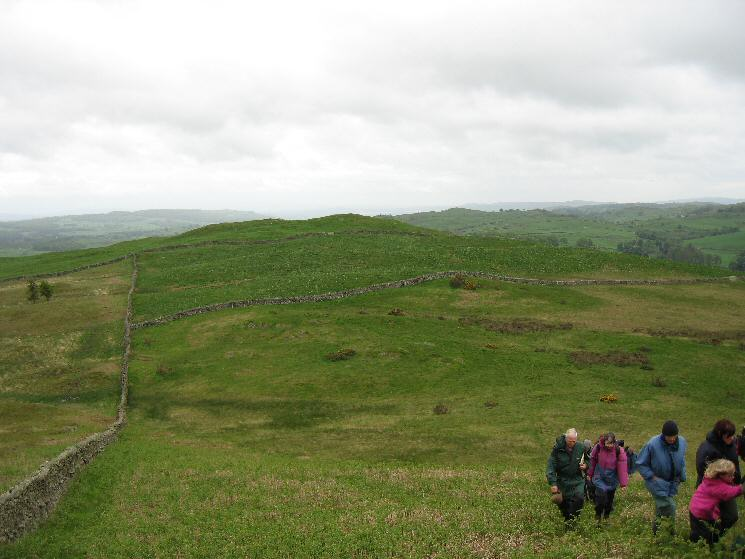 Looking back to Reston Scar