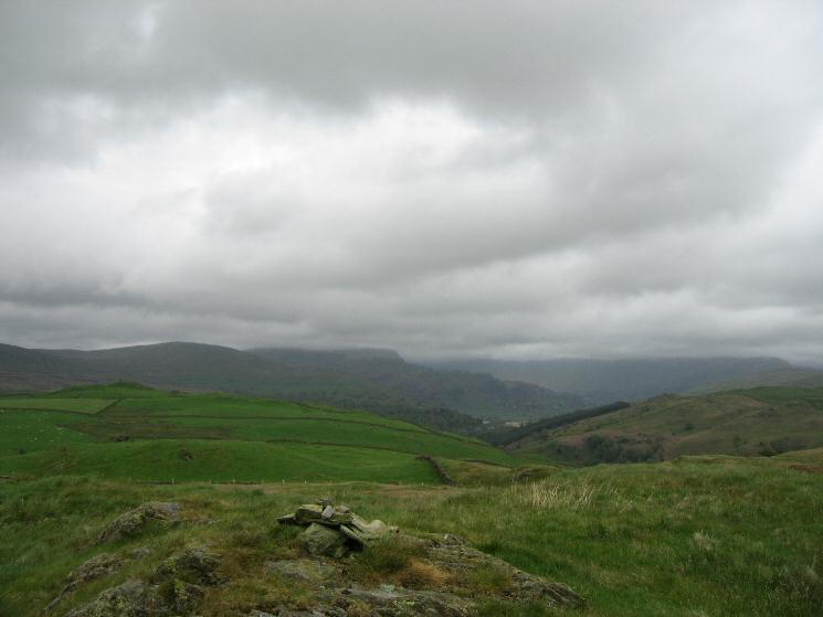 The Kentmere valley from the high point of Hugill Fell