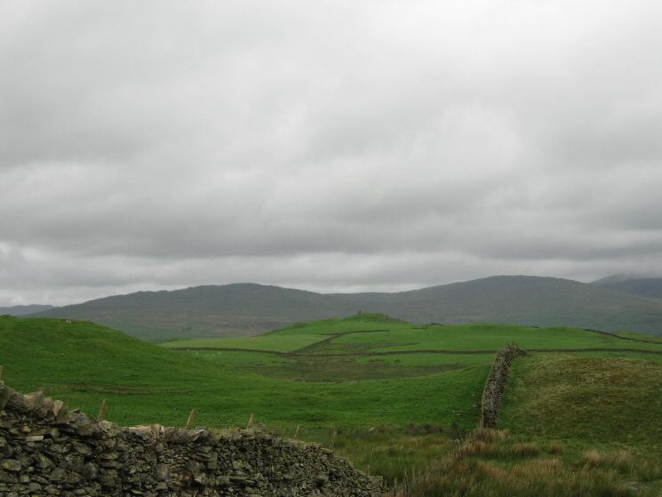 Looking north to High Knott (Williamson's Monument) with Sour Howes and Sallows behind