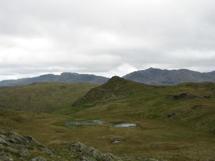 Sergeant Man with Crinkle Crags and Bowfell behind from Codale Head