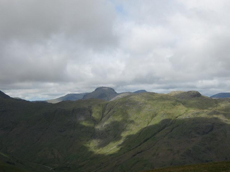 Looking across Langstrath towards Great Gable