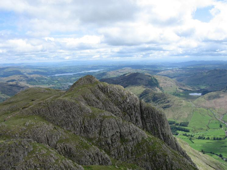 Loft Crag from Pike O' Stickle's summit