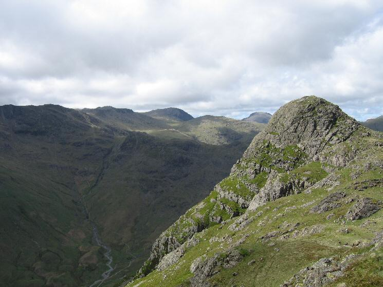 Looking back to Pike O' Stickle from our route to Loft Crag