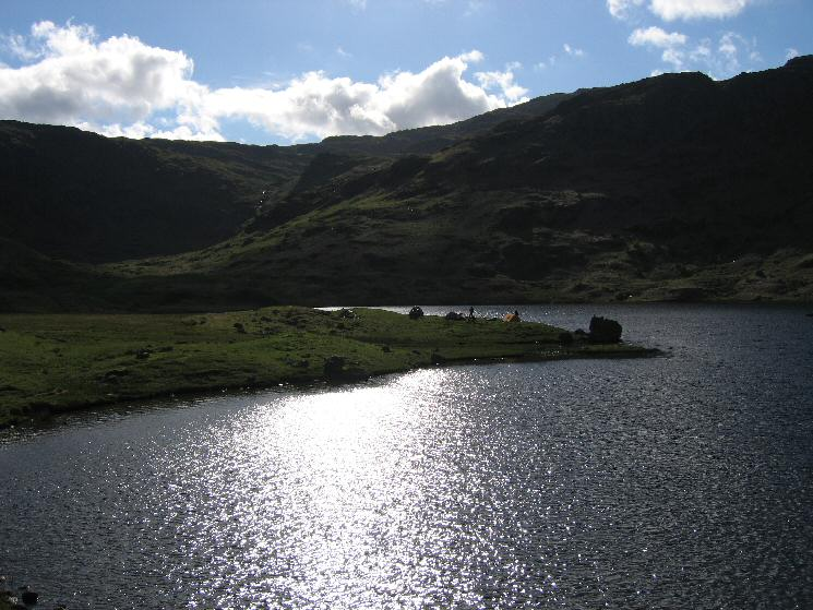 Wild camping at Easedale Tarn