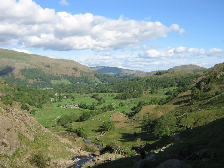 Easedale from the top of Sourmilk Gill