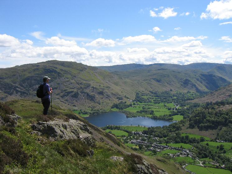 Place Fell, the head of Ullswater and Glenridding from Sheffield Pike's east ridge