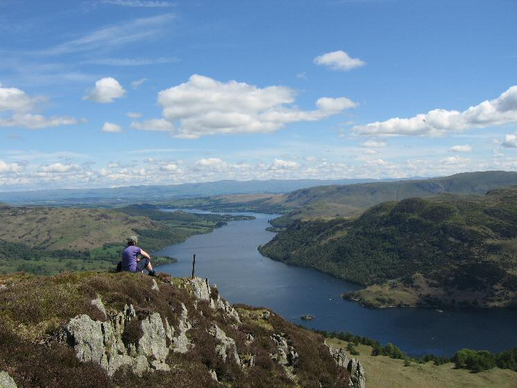 Ullswater from Heron Pike (Sheffield Pike's eastern top)
