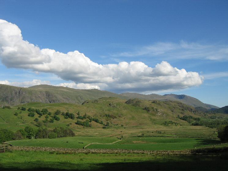 High Rigg with the Helvellyn range behind from near Goosewell Farm